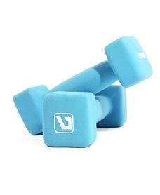 Гантели для фитнеса неопреновые LiveUp Square Head 2 кг синие