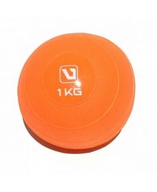 Фото 1 к товару Мяч медицинский (медбол) LiveUp Soft Weight Ball 1 кг оранжевый