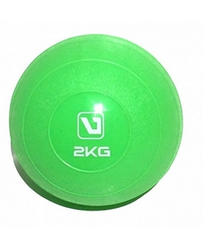 Мяч медицинский (медбол) LiveUp Soft Weight Ball 2 кг зеленый
