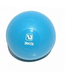 Мяч медицинский (медбол) LiveUp Soft Weight Ball 3 кг синий
