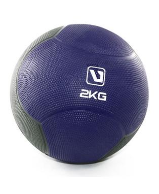Мяч медицинский (медбол) LiveUp Medicine Ball 2 кг сине-серый