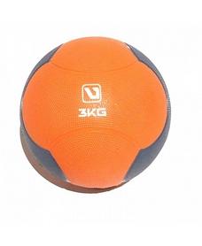 Фото 1 к товару Мяч медицинский (медбол) LiveUp Medicine Ball 3 кг оранжево-серый