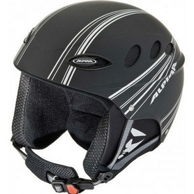Фото 1 к товару Шлем горнолыжный Alpina Lips Flex black/silver