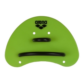 Фото 1 к товару Лопатки для плавания (ласты для рук) Arena Elite Finger Paddle lime