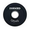 Диск обрезиненный олимпийский 1,25 кг Ivanko RCP19-1.25 цветной - 51 мм - фото 1
