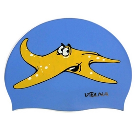 Шапочка для плавания детская Volna Ocean JR Cap blue