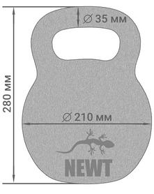 Фото 4 к товару Гиря чугунная Newt 16 кг NE-100-1600