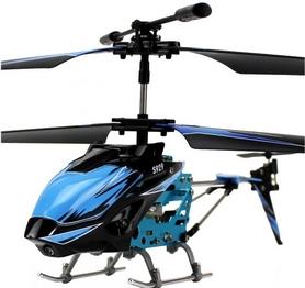 Вертолет на инфракрасном управлении 3-к WL Toys S929 с автопилотом синий