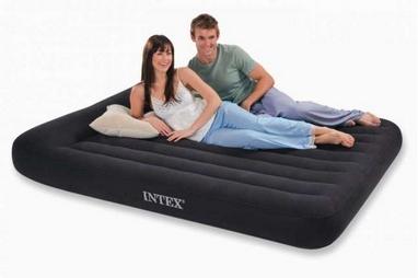 Матрас надувной двуспальный Intex Pillow Rest Classic 66770 (203x182x30 см)