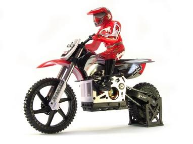 Мотоцикл радиоуправляемый Himoto Burstout MX400r Brushed 1:4 red