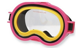Маска для плавания Intex Sea Scan Swim Mask розовая