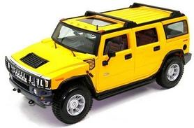 Автомобиль радиоуправляемый Hummer H2 1:43 микро желтый