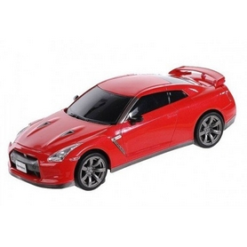 Автомобиль радиоуправляемый Nissan GT-R 1:43 микро красный