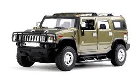 Автомобиль радиоуправляемый Meizhi Hummer H2 1:24 темно-зеленый