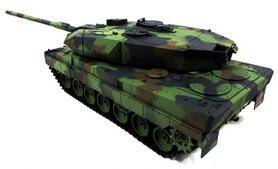 Фото 3 к товару Танк радиоуправляемый Heng Long Leopard II A6 1:16 в металле с пневмопушкой и дымом