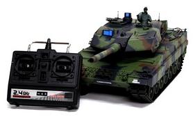 Фото 5 к товару Танк радиоуправляемый Heng Long Leopard II A6 1:16 в металле с пневмопушкой и дымом