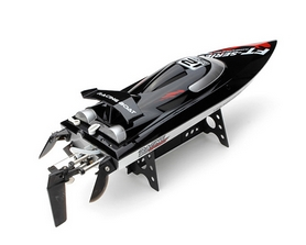 Фото 2 к товару Катер радиоуправляемый Fei Lun FT012 High Speed Boat бесколлекторный черный