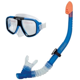 Распродажа! Набор для плавания (маска + трубка) Intex 55948 синий