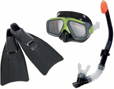 Набор для плавания (маска + трубка + ласты) Intex 55959 черный