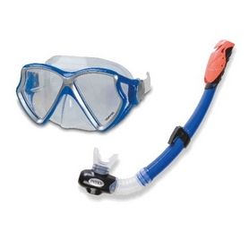 Набор для плавания (маска + трубка) Intex 55960 синий