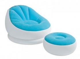 Фото 1 к товару Кресло надувное Intex 68572 (110х109х71 см) голубое