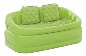 Диван надувной с подушками Intex 68573 (157х86х59 см) зеленый