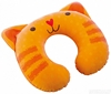 Подушка-подголовник надувная детская Intex 68678 (30х28х8 см) оранжевая - фото 1