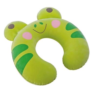 Подушка-подголовник надувная детская Intex 68678-G (30х28х8 см) зеленая