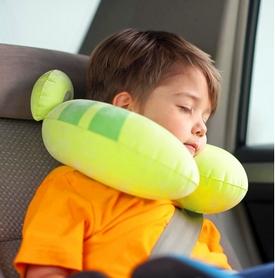 Фото 2 к товару Подушка-подголовник надувная детская Intex 68678-G (30х28х8 см) зеленая
