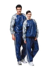 Распродажа*! Костюм сауна для похудения Exercise Suit 0,18 мм синий - XL