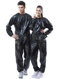 Костюм сауна для похудения Exercise Suit 0,14 мм черный