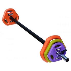 Штанга наборная для фитнеса Alex 20 кг