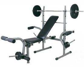 Скамья атлетическая + стойка под штангу Lets Go Fitness Products 200D