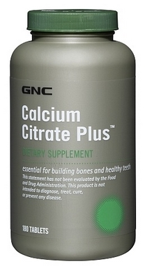 Комплекс витаминов и минералов GNC Calcium Citrate Plus (180 капсул)