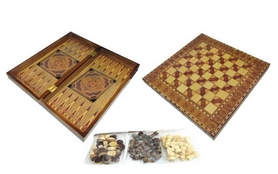 Фото 1 к товару Набор настольных игр 3 в 1 (шахматы, шашки , нарды) W5001F