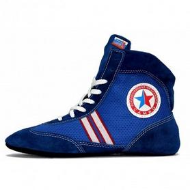 Обувь для занятий самбо (самбетки) Green Hill ATAKA синие