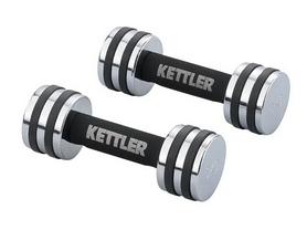 Гантели для фитнеса хромированные Kettler 2 шт по 3 кг