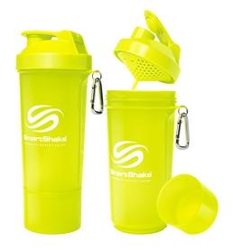 Шейкер 2-х камерный SmartShake Slim 500 мл neon yellow