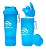 Распродажа*! Шейкер 2-х камерный SmartShake Slim 500 мл neon blue - фото 1
