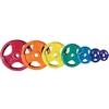 Диск обрезиненный олимпийский 15 кг Inter Atletika цветной с хватами - 51 мм - фото 1