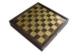 SK4BRO шахи Manopoulos, Грецька міфологія,латунь, у дерев'яному футлярі, коричневі 34х34см, 3 кг