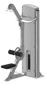 Блок для мышц спины (верхняя тяга) Fit Way Factory Bridge Style A 105