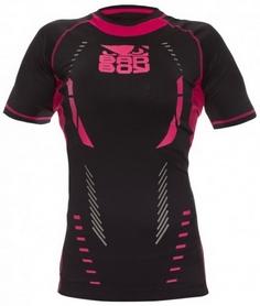Рашгард женский Bad Boy Ladies Sphere Top Short Sleeve black/pink