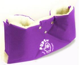 Муфта на санки или коляску PUPSik фиолетовая