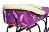Комплект матрасик на санки и чехол на ножки PUPSik фиолетовый - фото 3