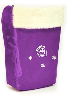 Комплект матрасик на санки и чехол на ножки PUPSik фиолетовый
