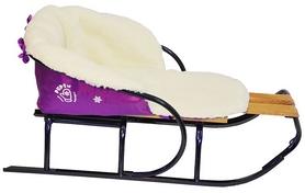 Фото 2 к товару Комплект матрасик на санки и чехол на ножки PUPSik фиолетовый