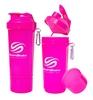 Шейкер 2-х камерный SmartShake Slim 500 мл neon pink - фото 1