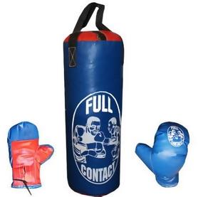 Набор боксерский детский Full Contact (42х18 cм) синий