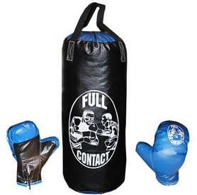 Набор боксерский детский Full Contact (52х20 cм) черный